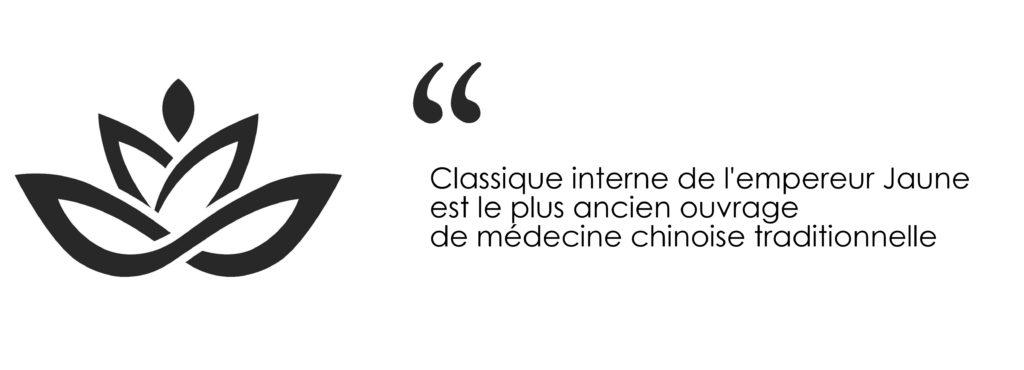 Classique interne de l'empereur Jaune est le plus ancien ouvrage de médecine chinoise traditionnelle